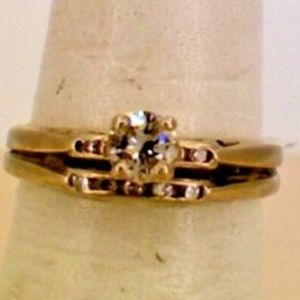 14K White Gold Diamond Vintage Fashion Ring .20TCW